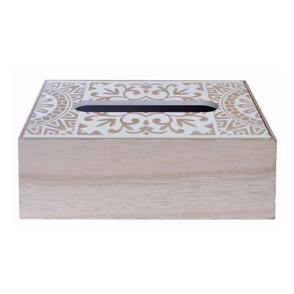 Dřevěná krabička na kapesníky Ewax Mahna