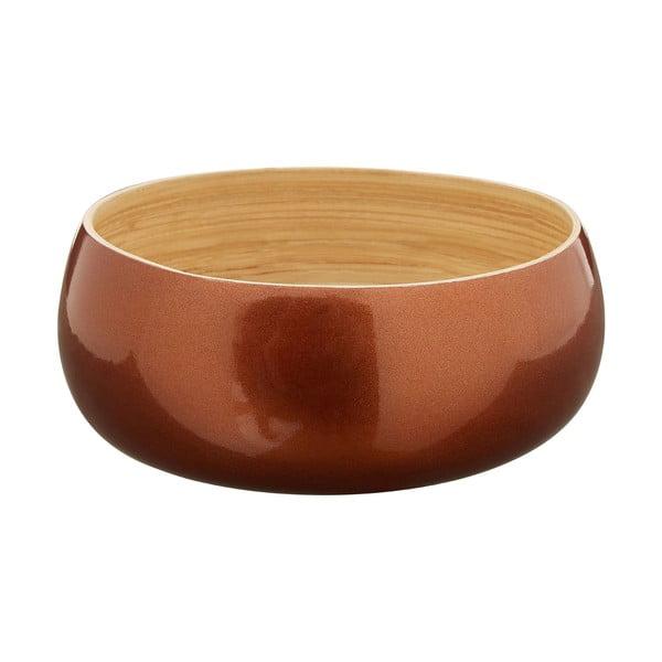 Miska bambusowa w barwie różowego złota Premier Housewares, ⌀ 20 cm