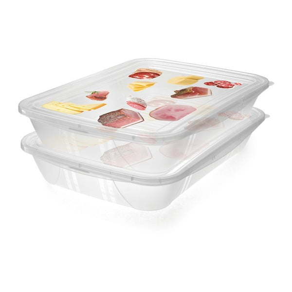 Sada 2 škatuliek na potraviny Snips Classic, 1,5 l