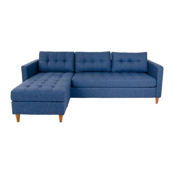 Marino kék kanapé fekvőfotellel, variálható elemes - House Nordic