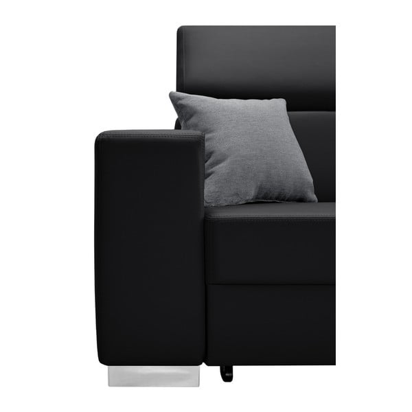 Černo-šedá rozkládací sedačka Interieur De Famille Paris Tresor, pravý roh
