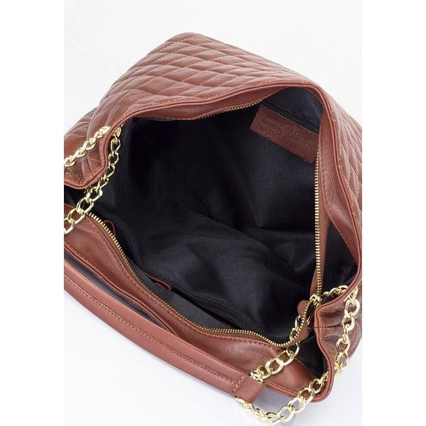 Kožená kabelka Lisa Minardi 6938 Brown