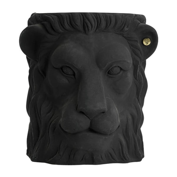 Czarna doniczka Garden Glory Lion, wys. 40 cm