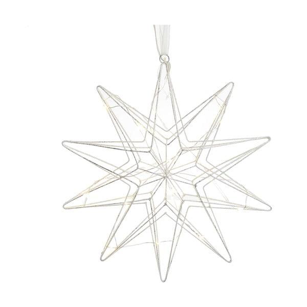 Vánoční dekorace ve stříbrné barvě ve tvaru hvězdy InArt Daisy