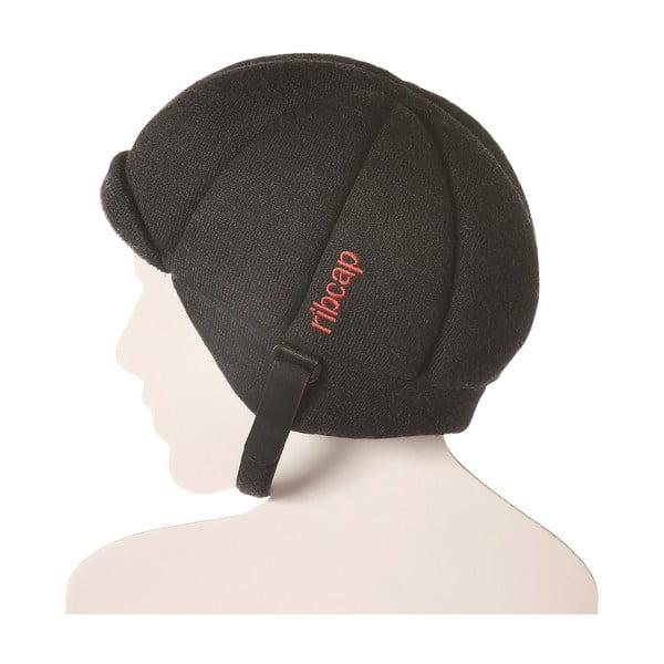 Antracitová čepice s ochrannými prvky Ribcap Jackson, vel. S