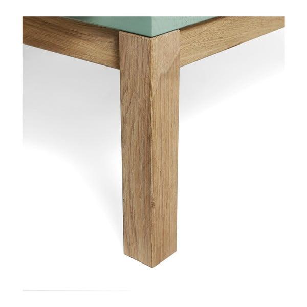 Světle modrá komoda z borovicového a dubového dřeva se 3 zásuvkami Askala Sesi