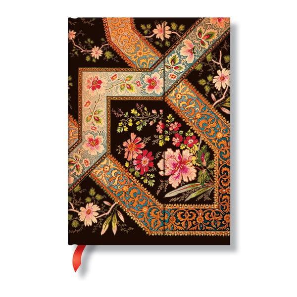 Diář na rok 2014 - Filigree Floral Ebony 13x18 cm, vertikální výpis dnů