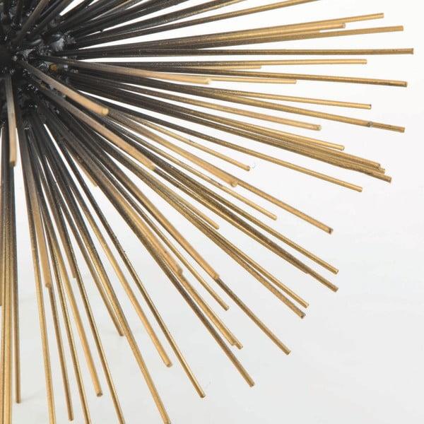 Černo-zlatá kovová dekorace na stůl Thai Natura Dann, Ø 33 cm