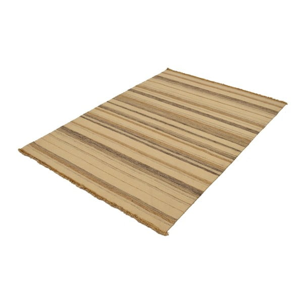 Ručně tkaný koberec Beige Lines, 140x200 cm
