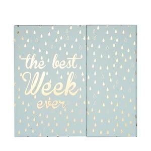 Kapesní týdenní plánovač Tri-CoastalDesign Best Week
