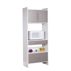 Šedý kuchyňský úložný systém s policemi Symbiosis Léon