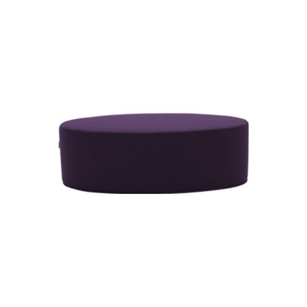 Tmavě fialový puf Softline Bon-Bon Eco Cotton Dark Lilac, délka 120 cm