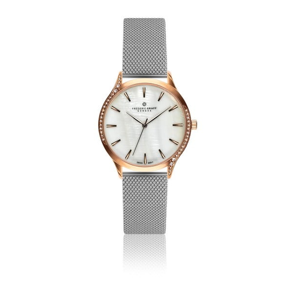 Dámske hodinky s remienkom v striebornej farbe z antikoro ocele Frederic Graff Missy
