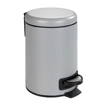 Coș de gunoi pentru baie Wenko Punto, 3 l, oțel, gri de la Wenko