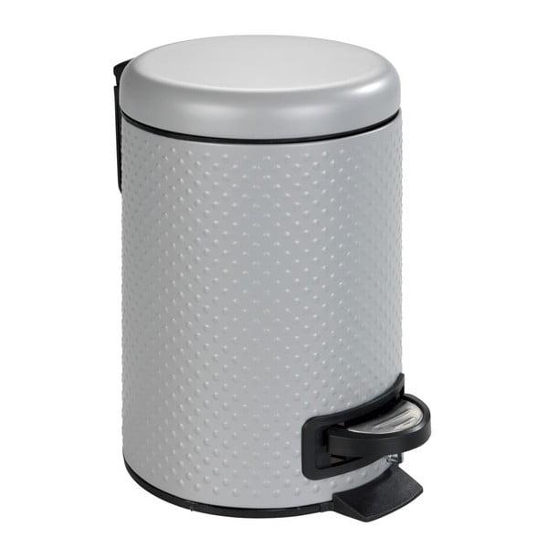 Punto szürke fürdőszobai szemetes acélból, 3 l - Wenko