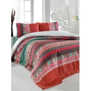 Sada prošívaného přehozu přes postel a dvou polštářů Double 211, 200x220 cm