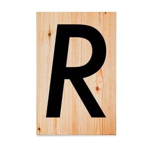 Dřevěná cedule Letters R