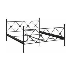 Černá dvoulůžková postel Støraa Johnson, 180x200cm
