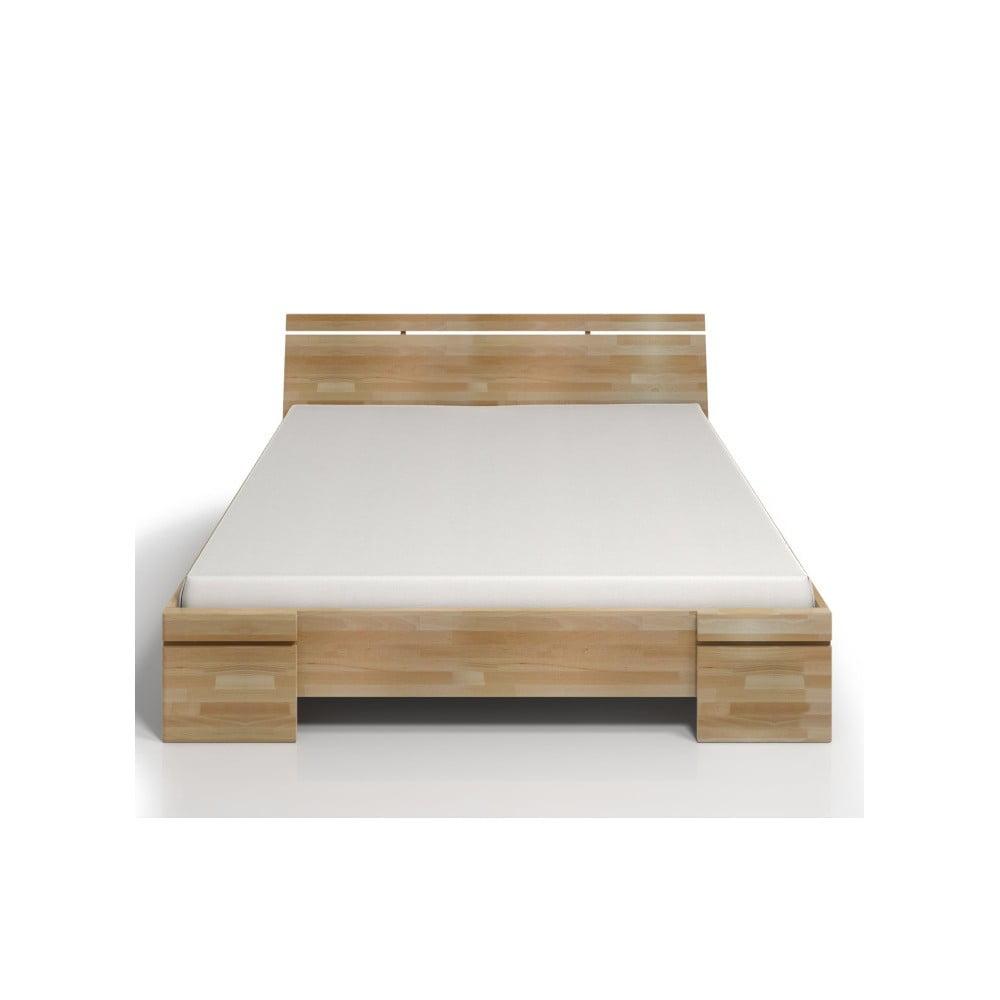 Dvoulůžková postel z bukového dřeva s úložným prostorem SKANDICA Sparta Maxi, 140 x 200 cm