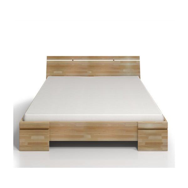 Dvoulůžková postel z bukového dřeva s úložným prostorem SKANDICA Sparta Maxi, 180x200cm