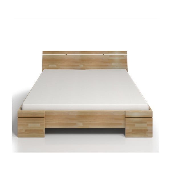 Pat dublu din lemn de fag SKANDICA Sparta Maxi, 200 x 200 cm