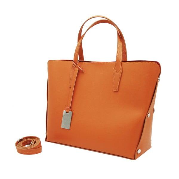 Oranžová kabelka z pravé kůže Andrea Cardone Dettalgio