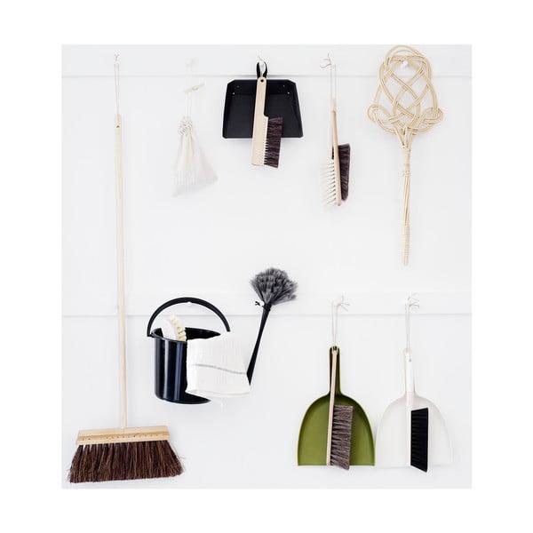 Set de măturică și făraș negru de plastic Iris Hantverk, păr de cal