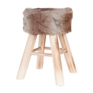 Hnědá stolička Clayre & Eef Fur