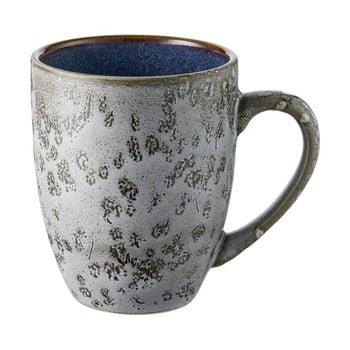 Cană din ceramică și glazură interioară albastru închis Bitz Mensa, 300 ml, gri de la Bitz
