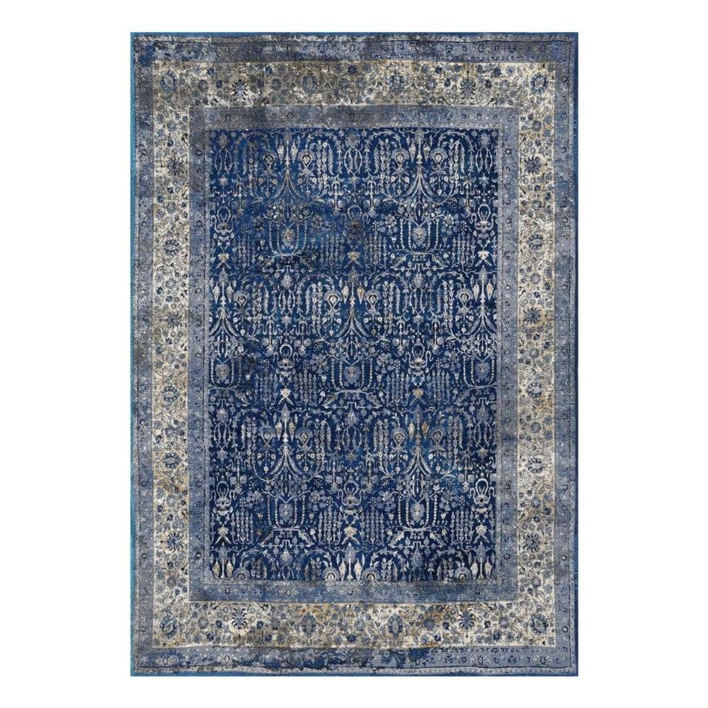 Modro-šedý koberec Floorita Tabriz, 80 x 150 cm