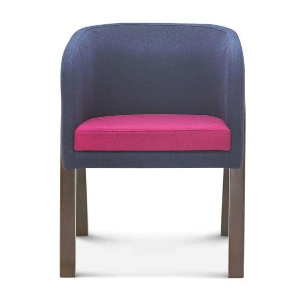 Šedo-růžová židle Fameg Eluf