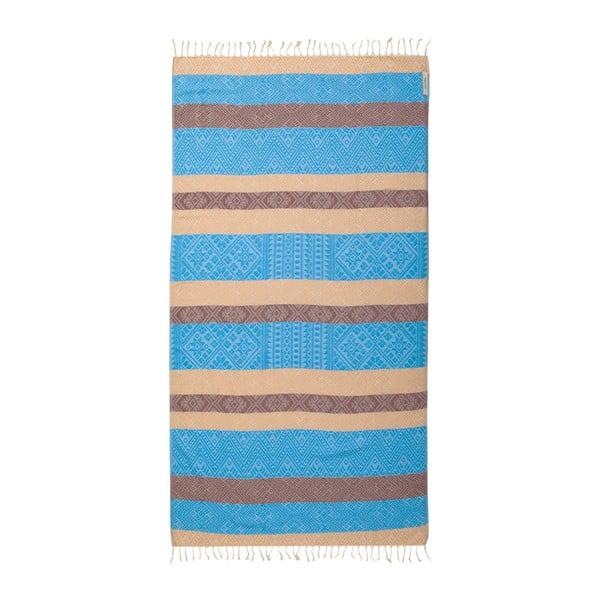 Hammam osuška z bavlněných a bambusových vláken Begonville Sunrise Loin, 180x95cm