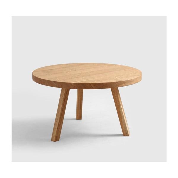 Măsuță de cafea din lemn de stejar Custom Form Treben, diametru 80 cm