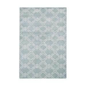 Světle modrý vlněný koberec Bakero Riviera, 153x244cm