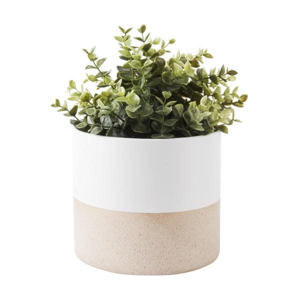 Bílý keramický květináč PT LIVING, 15 x 18 cm