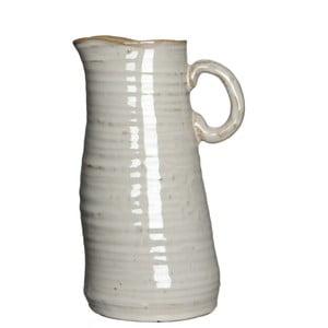 Keramická váza/džbán June Cream, 20 cm
