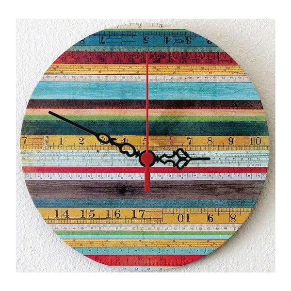 Nástěnné hodiny Wooden Stripes, 30 cm