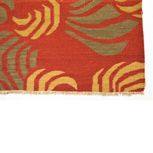 Ručně tkaný koberec Orange Leafs, 140x200 cm