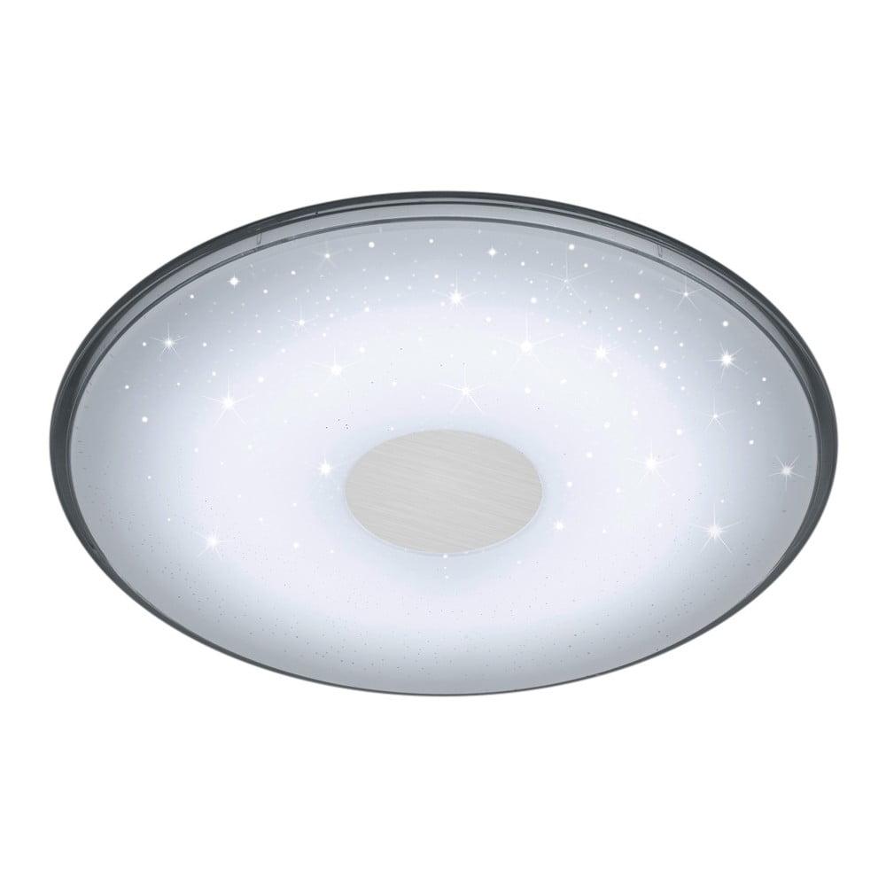 Bílé kulaté stropní LED svítidlo na dálkové ovládání Trio Shogun, průměr 42,5 cm