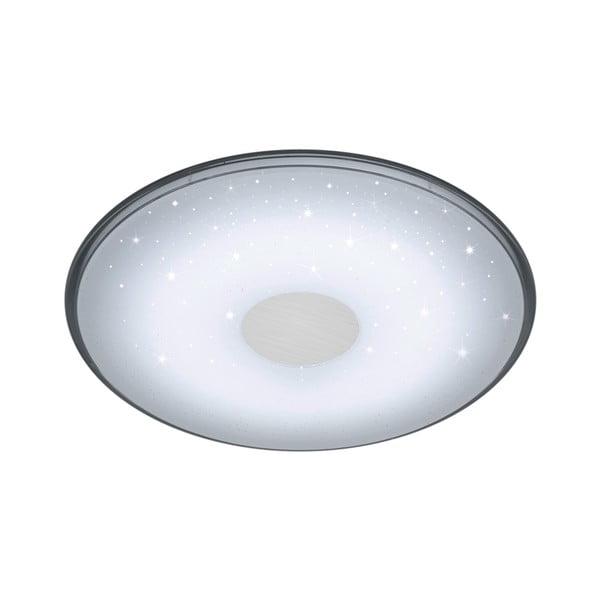 Biała okrągła lampa sufitowa LED sterowana zdalnie Trio Shogun, średnica 42,5 cm