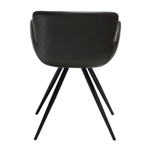 Šedá koženková židle DAN-FORM Denmark Gaia