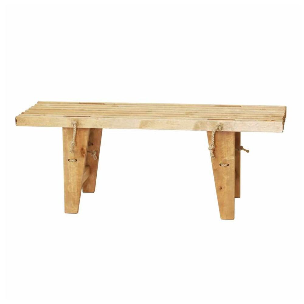 Lavička ze dřeva břízy EcoFurn, délka 120 cm