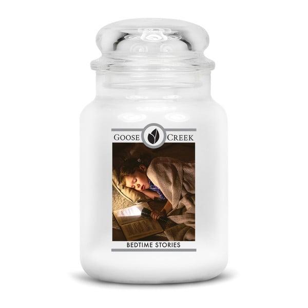 Świeczka zapachowa w szklanym pojemniku Goose Creek Bajka na dobranoc, 150 godz. palenia