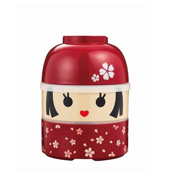 Dětský svačinový box Kokeshi Red, 850 ml