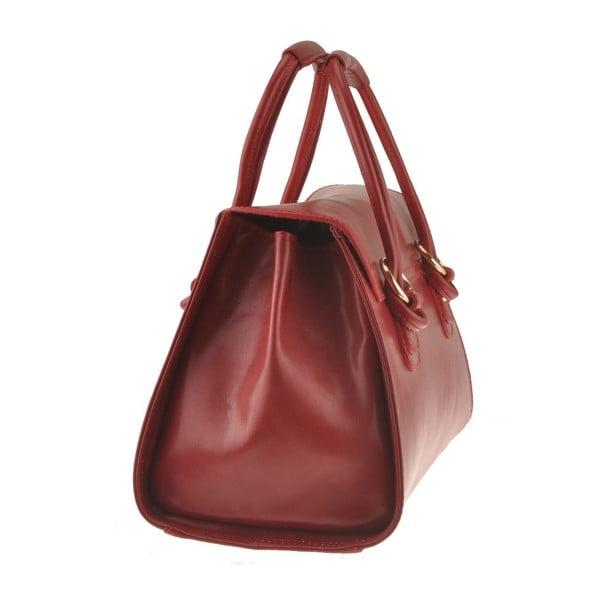 Kožená kabelka Mora, červená