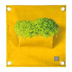 Ghiveci pentru flori The Green Pockets Amma, 45 x 50 cm, galben