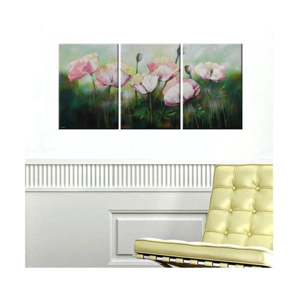 3dílný obraz Spring Flowers, 45x90 cm