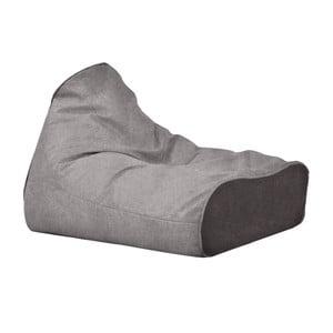 Menší šedý sedací vak s antracitovým detailem Poufomania Sunset