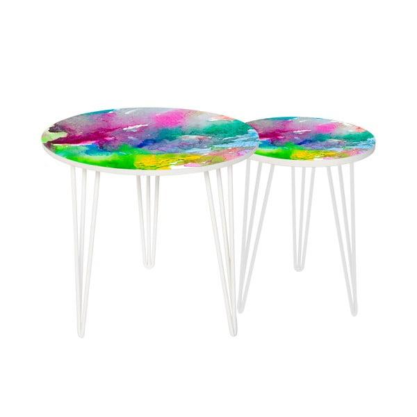 Sada 2 odkládacích stolků Water Colour, 35 cm + 49 cm