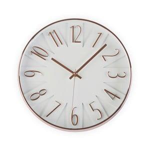 Bílé hodiny Versa White & Copper, 30cm